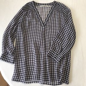 NWOT Violet + Claire sheer checkered top